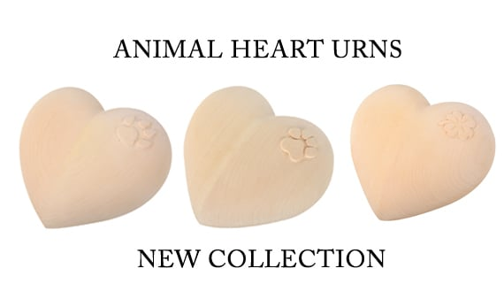 ANIMAL HEART URNS
